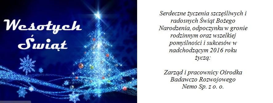 kartka świąteczna nemo